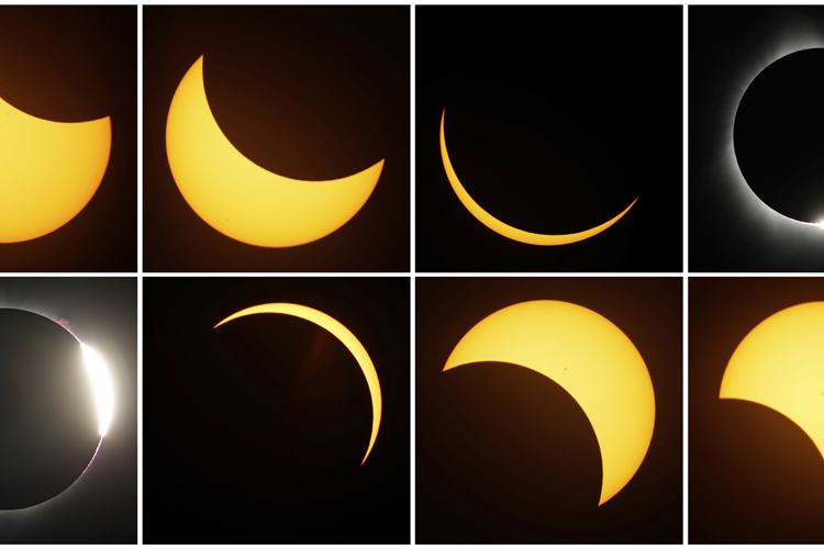 [FOTOS] NASA revela impactantes fotos del eclipse en Estados Unidos