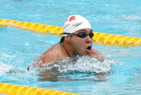 Pedro Rangel gana la medalla de Bronce en natación
