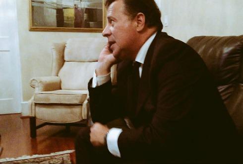 Peña Nieto recibe en Palacio Nacional al presidente de Panamá