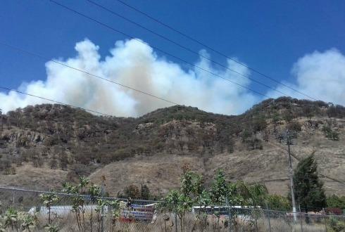 Incendio en Cerro Tepopote, controlado y en fase de enfriamiento