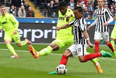 Fabián, anota doblete en victoria del Frankfurt