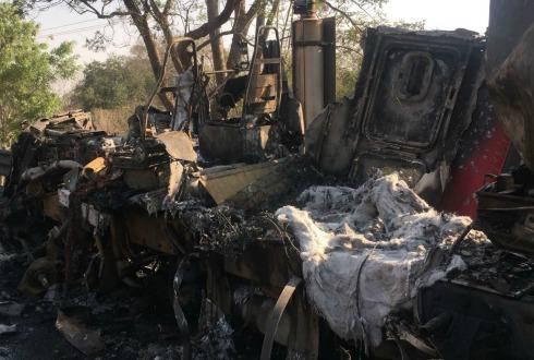 Choque múltiple deja tres heridos en Tuxpan, Jalisco