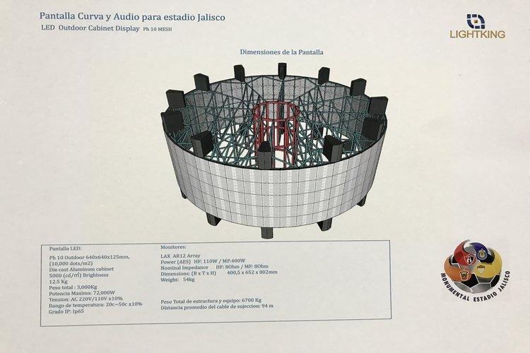 Estadio Jalisco tendrá pantalla en 360 grados