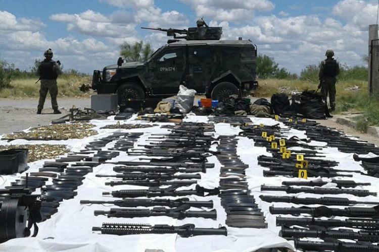 Sedena decomisa un arsenal en la ciudad de Nuevo Laredo