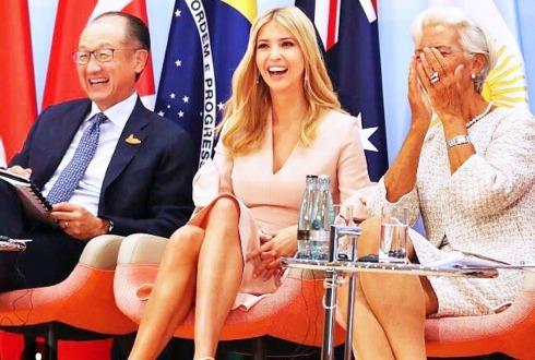 Ivanka Trump sorprende al sustituir a su padre en reuniones del G20