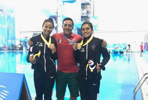 Mexicana Arantxa Chávez oro en trampolín 3m en Universiada de Taipei
