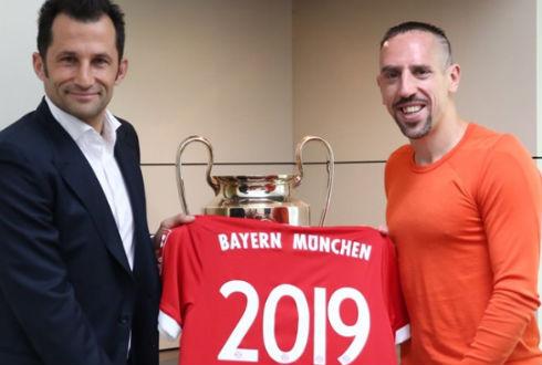 Ribery extiende contrato con el Bayern hasta 2019