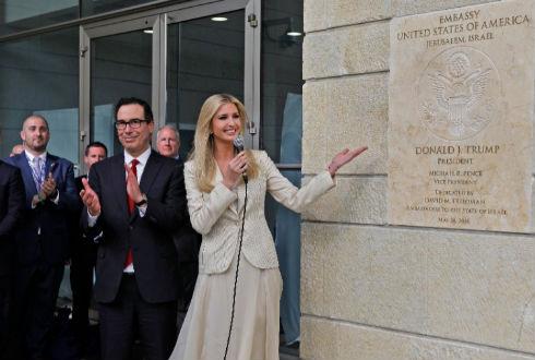 Resultado de imagen para inaugura estados unidos nueva embajada en jerusalen