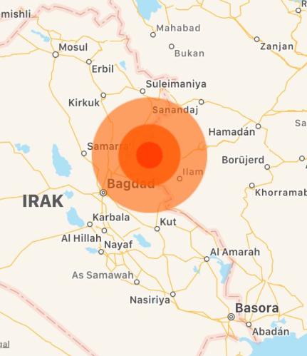 Fuerte sismo de 6.3 grados sacude frontera entre Irak e Irán