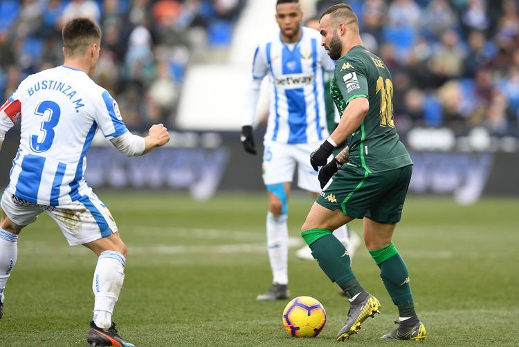Con Reyes, el Leganés golea al Betis de Lainez y Guardado