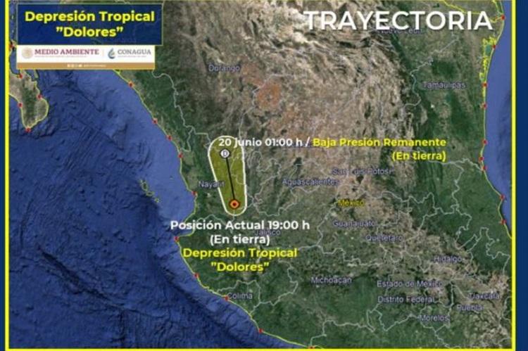 'Dolores' se degrada a depresión tropical